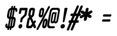 Larabiefont Compressed Bold Italic Font OTHER CHARS