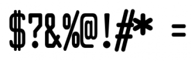 Larabiefont Compressed Bold Font OTHER CHARS