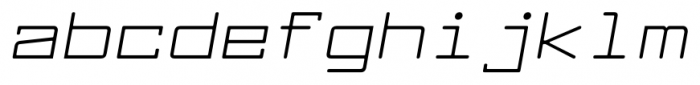 Larabiefont Extended Italic Font LOWERCASE