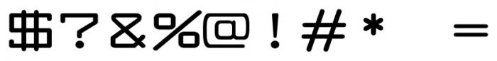 Larabiefont Xtrawide Bold Font OTHER CHARS