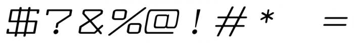 Larabiefont Xtrawide Italic Font OTHER CHARS