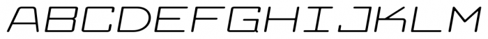 Larabiefont Xtrawide Italic Font UPPERCASE
