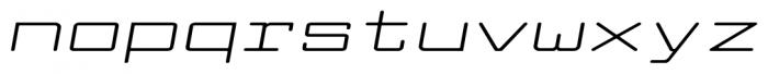 Larabiefont Xtrawide Italic Font LOWERCASE