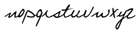 Larissa Handwriting Regular Font LOWERCASE