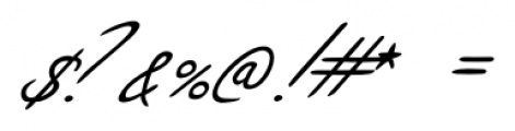 Laszlo Handwriting Regular Font OTHER CHARS