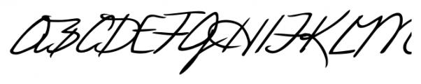 Laszlo Handwriting Regular Font UPPERCASE