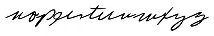 Laszlo Handwriting Regular Font LOWERCASE