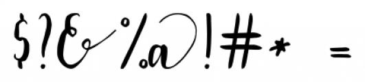 Lavandia Regular Font OTHER CHARS