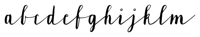 Lavandia Regular Font LOWERCASE