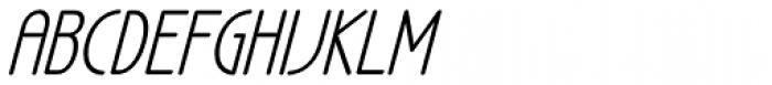 LA Headlights BTN Italic Font UPPERCASE