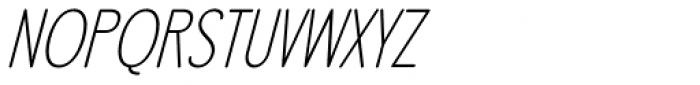 LA Headlights BTN Light Italic Font UPPERCASE