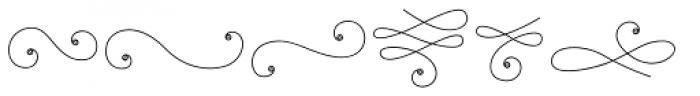 La Chic Flourishes Shaded Font UPPERCASE