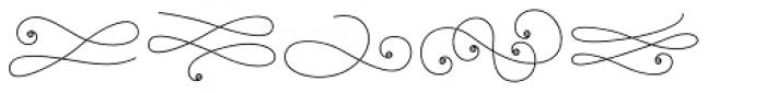 La Chic Flourishes Shaded Font LOWERCASE