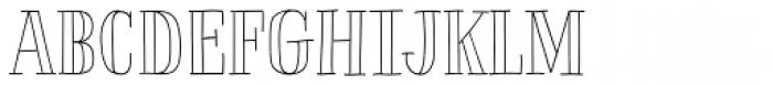 La Chic Outline Font UPPERCASE