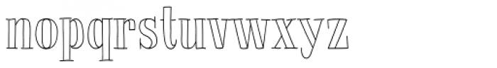 La Chic Outline Font LOWERCASE
