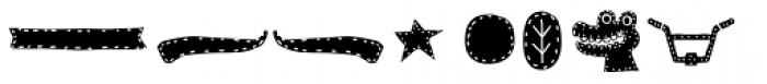 La Mona Kids Dingbat Base Two Font UPPERCASE