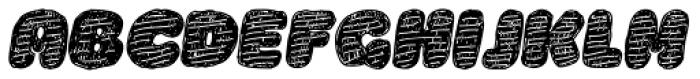 La Mona Pro Hand More Texture Italic Font UPPERCASE