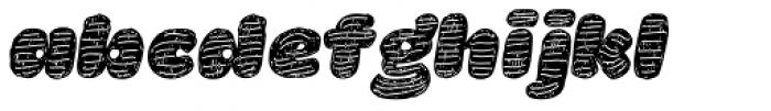 La Mona Pro Hand More Texture Italic Font LOWERCASE
