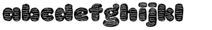 La Mona Pro Hand More Texture Font LOWERCASE