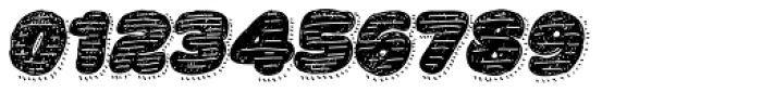 La Mona Pro Hand Textura More Shadow Line Italic Font OTHER CHARS