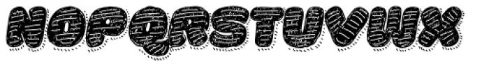 La Mona Pro Hand Textura More Shadow Line Italic Font UPPERCASE