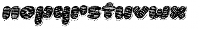 La Mona Pro Hand Textura More Shadow Line Italic Font LOWERCASE