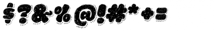 La Mona Pro Hand With Shadow Line Italic Font OTHER CHARS