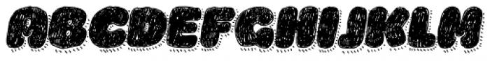 La Mona Pro Hand With Shadow Line Italic Font UPPERCASE