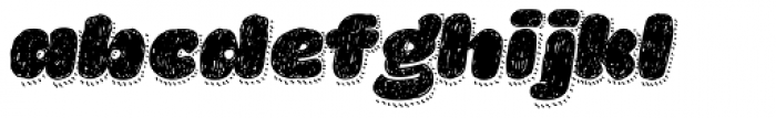 La Mona Pro Hand With Shadow Line Italic Font LOWERCASE