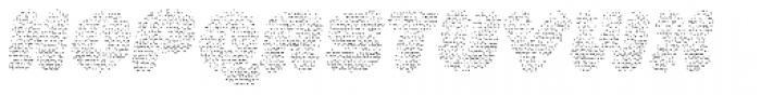 La Mona Pro Layer Cloth Italic Font UPPERCASE