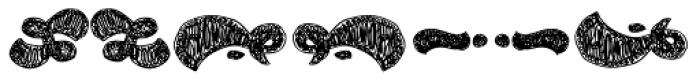 La Mona Pro Ornament Hand Font LOWERCASE