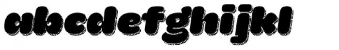 La Mona Pro Regular More Shadow Texture Italic Font LOWERCASE