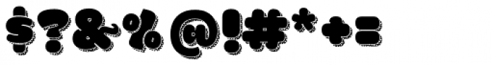 La Mona Pro Regular More Shadow Texture Font OTHER CHARS