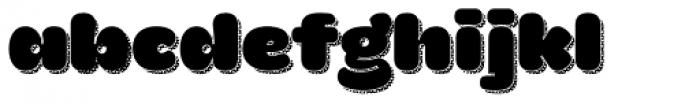 La Mona Pro Regular More Shadow Texture Font LOWERCASE