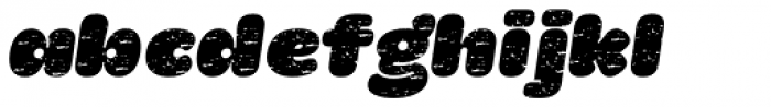 La Mona Pro Rough Italic Font LOWERCASE