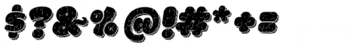 La Mona Pro Rough Two Italic More Shadow Texture Font OTHER CHARS