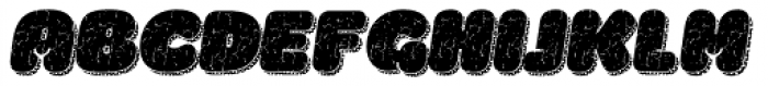 La Mona Pro Rough Two Italic More Shadow Texture Font UPPERCASE
