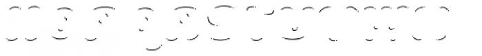 La Mona Pro Shine Line Italic Font UPPERCASE