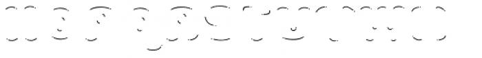 La Mona Pro Shine Line Font UPPERCASE