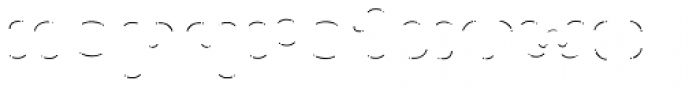 La Mona Pro Shine Line Font LOWERCASE