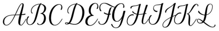La Parisienne Script Casual Font UPPERCASE