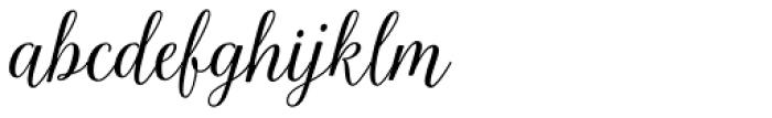 La Parisienne Script Casual Font LOWERCASE