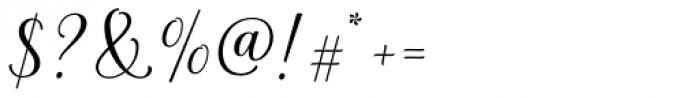 La Parisienne Script Regular Font OTHER CHARS