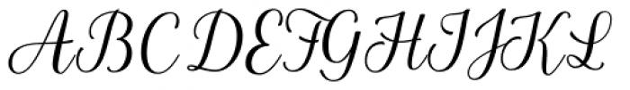 La Parisienne Script Regular Font UPPERCASE