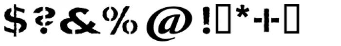La Pina Stencil AI Medium Rough Font OTHER CHARS