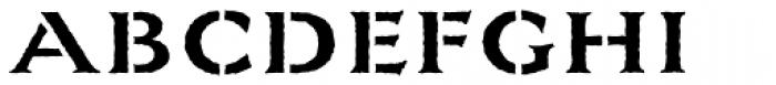 La Pina Stencil AI Medium Rough Font UPPERCASE