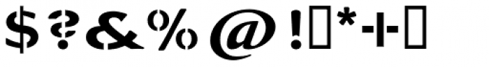 La Pina Stencil AI Medium Font OTHER CHARS