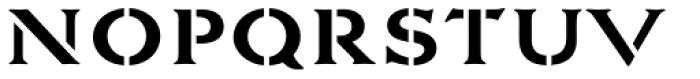 La Pina Stencil AI Medium Font LOWERCASE