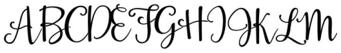 La Veronique Two Font UPPERCASE