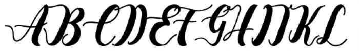 La Vie En Flower Regular Font UPPERCASE